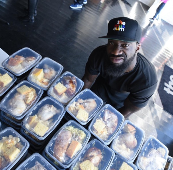 Desean Jackson - Chef Tobias Chef'd food for families for thanksgiving - Westpoppn.com