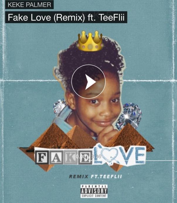 "KEKE Palmer & TEEFLII new single ""FAKE LOVE"" - Westpoppn.com"