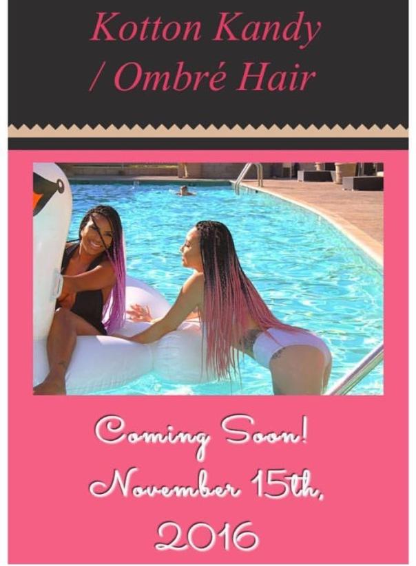 """Kat tatt rocking new braids hair line -""""Kotton Kandy Ombre' Pink"""" - Westpoppn.com"""